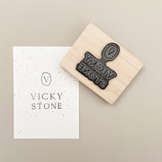 50mm x 50mm Custom Rubber Stamp