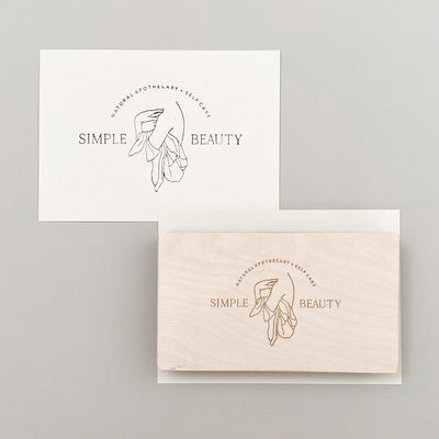 100mm x 50mm Custom Rubber Stamp