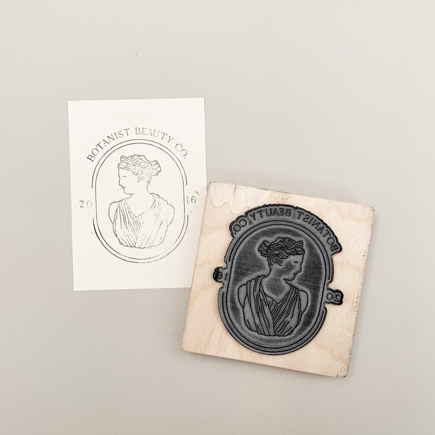 100mm x 100mm Custom Rubber Stamp