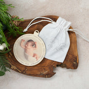 Birch Wood Photo Christmas Bauble