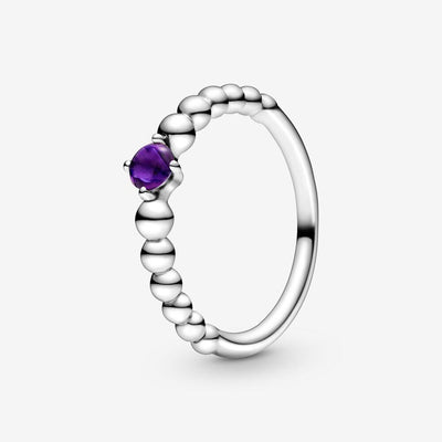 Anello viola decorato con sfere - gioielleriaperdichizzi.it