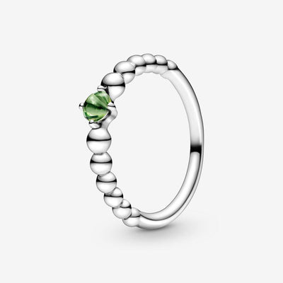 Anello verde primavera decorato con sfere - gioielleriaperdichizzi.it
