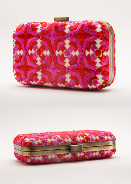 Gulabi Box Clutch