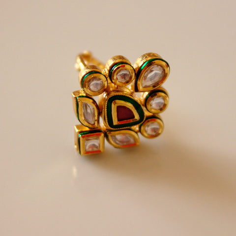 Real kundan ring
