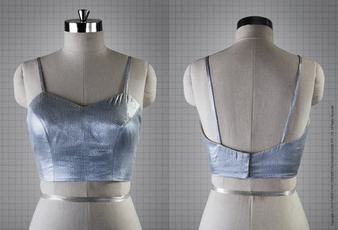 Silver Bustier Blouse