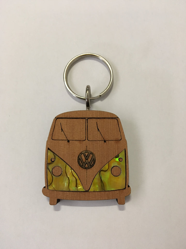 Kauri VW Kombi Keyring - Yellow