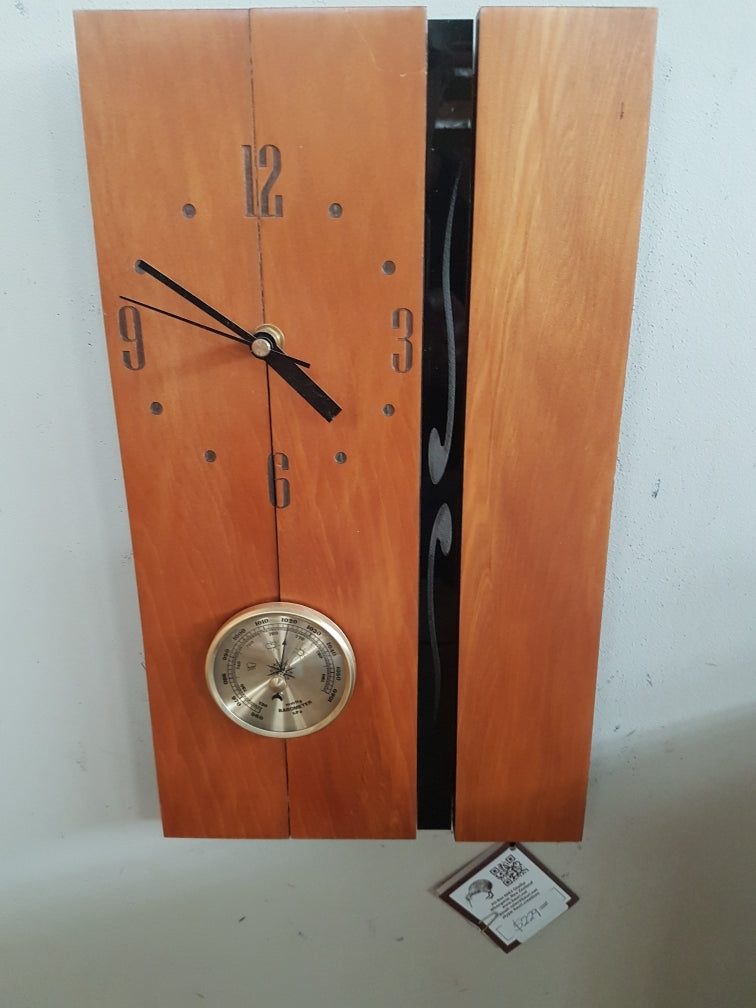 Wall Art Clock & Barometer (O74)