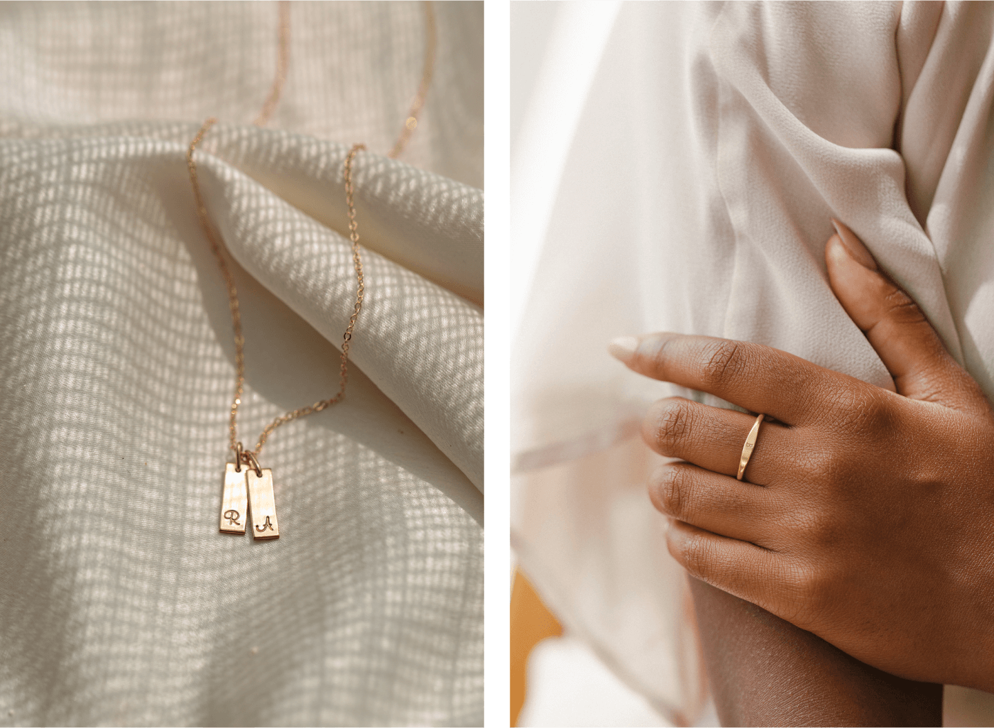Palermo Necklace and Slim Signet Ring