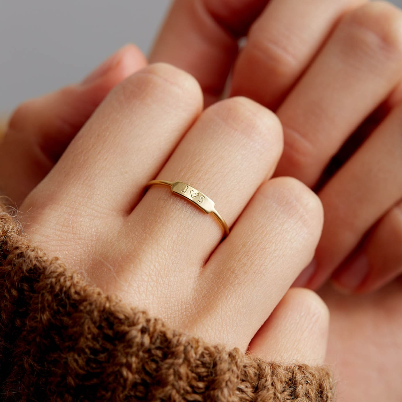 Natural One Diamond Wedding Ring For Her Details about  /solid 14K Gold with engraving on ring