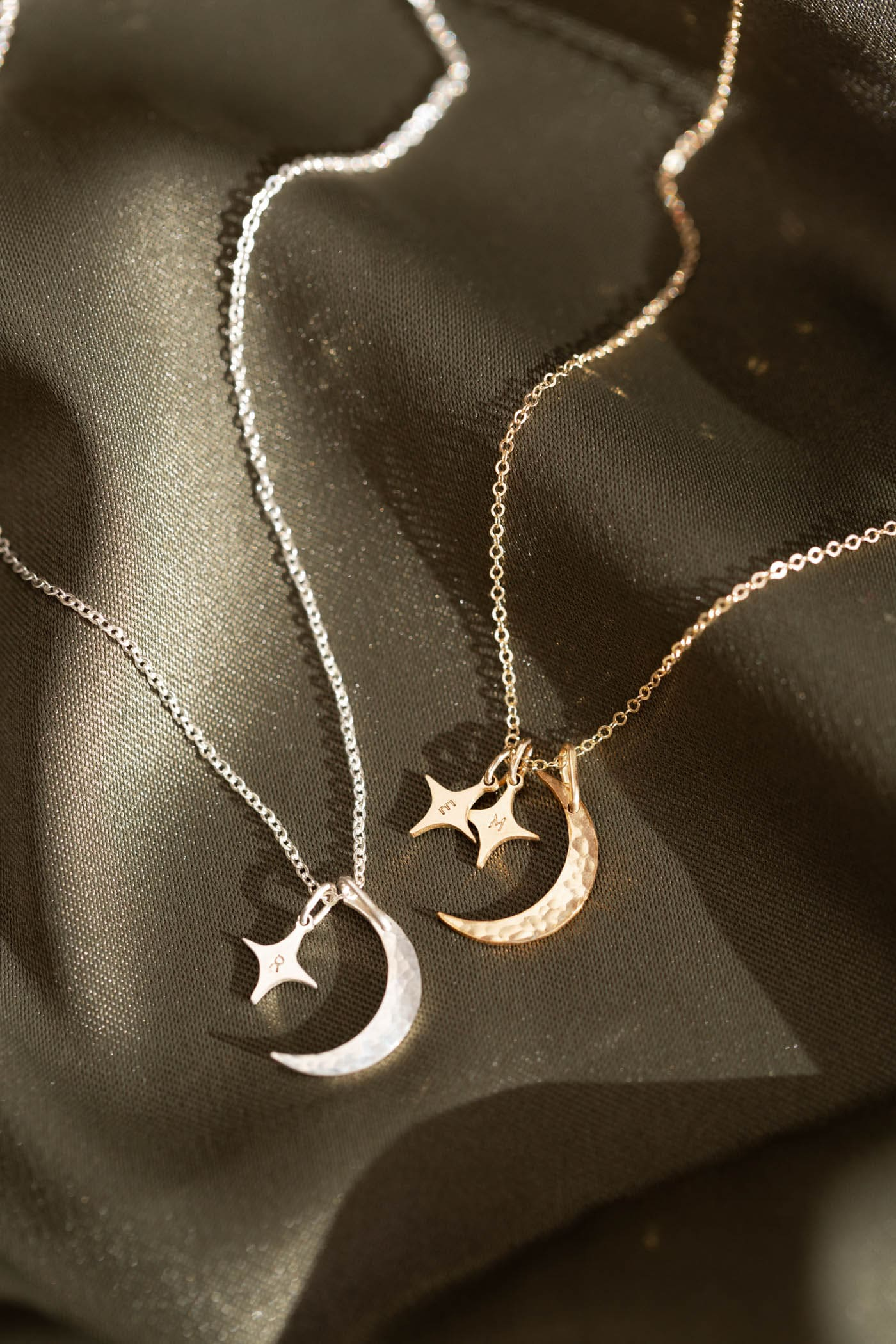 Birthday Gifts for her-Gifts for women-I love you to the moon and back-Personalized Initials Necklace-Moon and Star necklace-friendship Gift