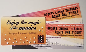 Two Movie Tickets plus a $10 Gift Card