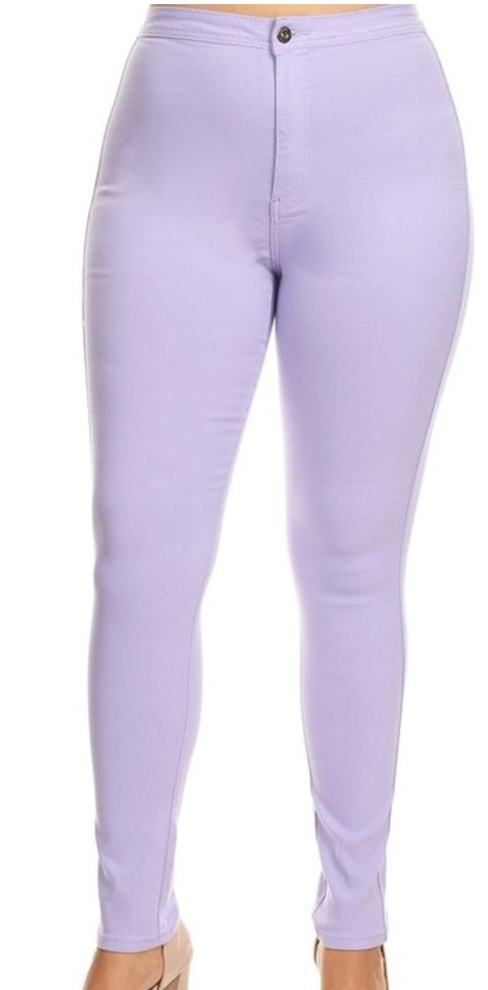 High Waist Pants Lavender