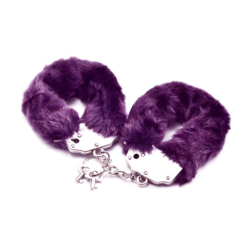 Fetish Pleasure Fluffy Hand Cuffs Purple