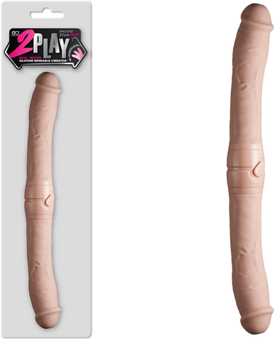 "14.5"" 2 Play Vibrating Double Dong (Flesh)"