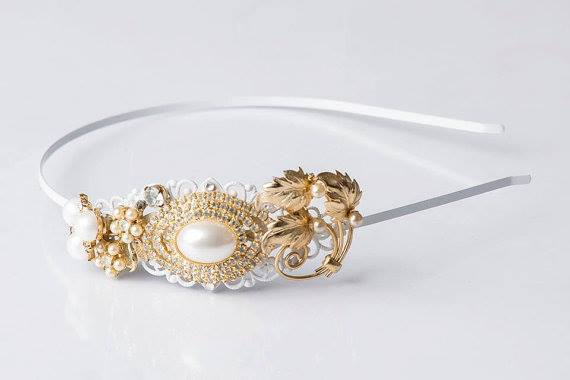 The Golden Pearl Vintage Jewelry Collection Headband