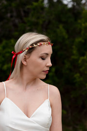 Handcrafted Red and Gold Simple Crown