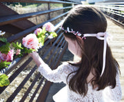 Handcrafted Light Pink and White Simple Crown