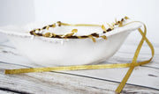 Handcrafted White and Gold Simple Crown
