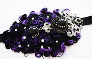 Handcrafted Wicked Purple and Black 20s Headband