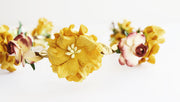 Mustard Gold and Burgundy Flower Crown