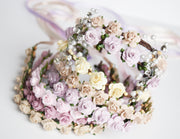 Handcrafted Blush Champagne Pearl Flower Crown