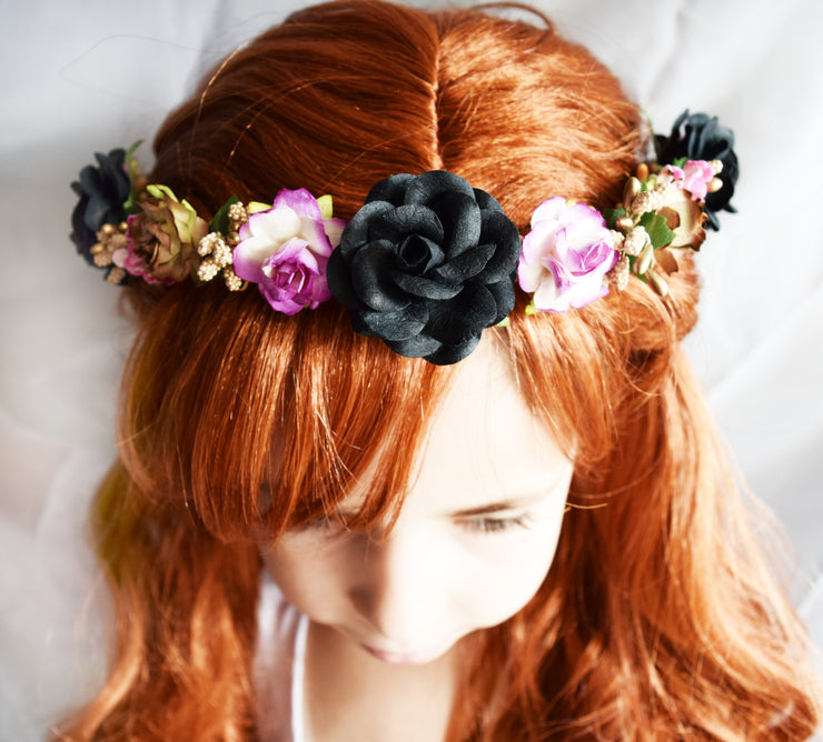 Handcrafted Frozen Anna Flower Girl Crown