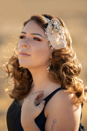 Handcrafted Roaring 20s Champagne and Gold Headband