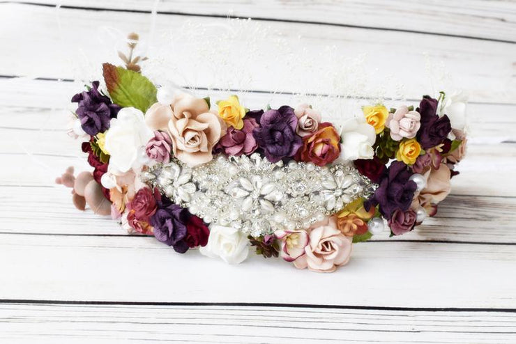 Handcrafted Statement Bridal Flower Crown