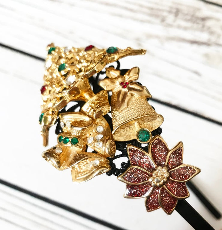The Gold Christmas Tree Vintage Jewelry Collection Headband