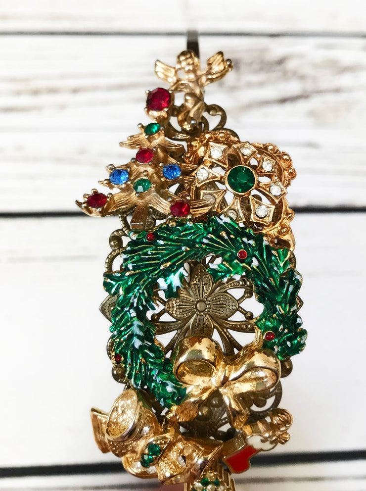 The Evergreen Christmas Wreath Vintage Jewelry Collection Headband