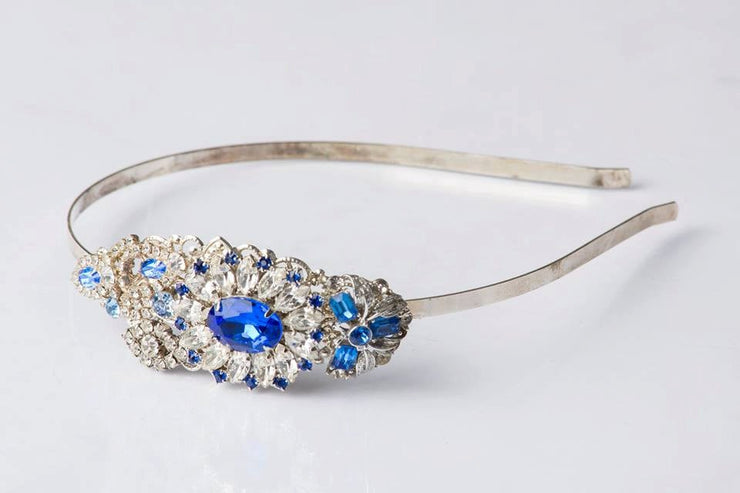 Sapphire Blue Vintage Jewelry Collection Headband