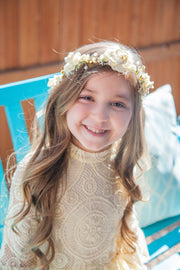 Ivory Flower Girl Proposal Crown