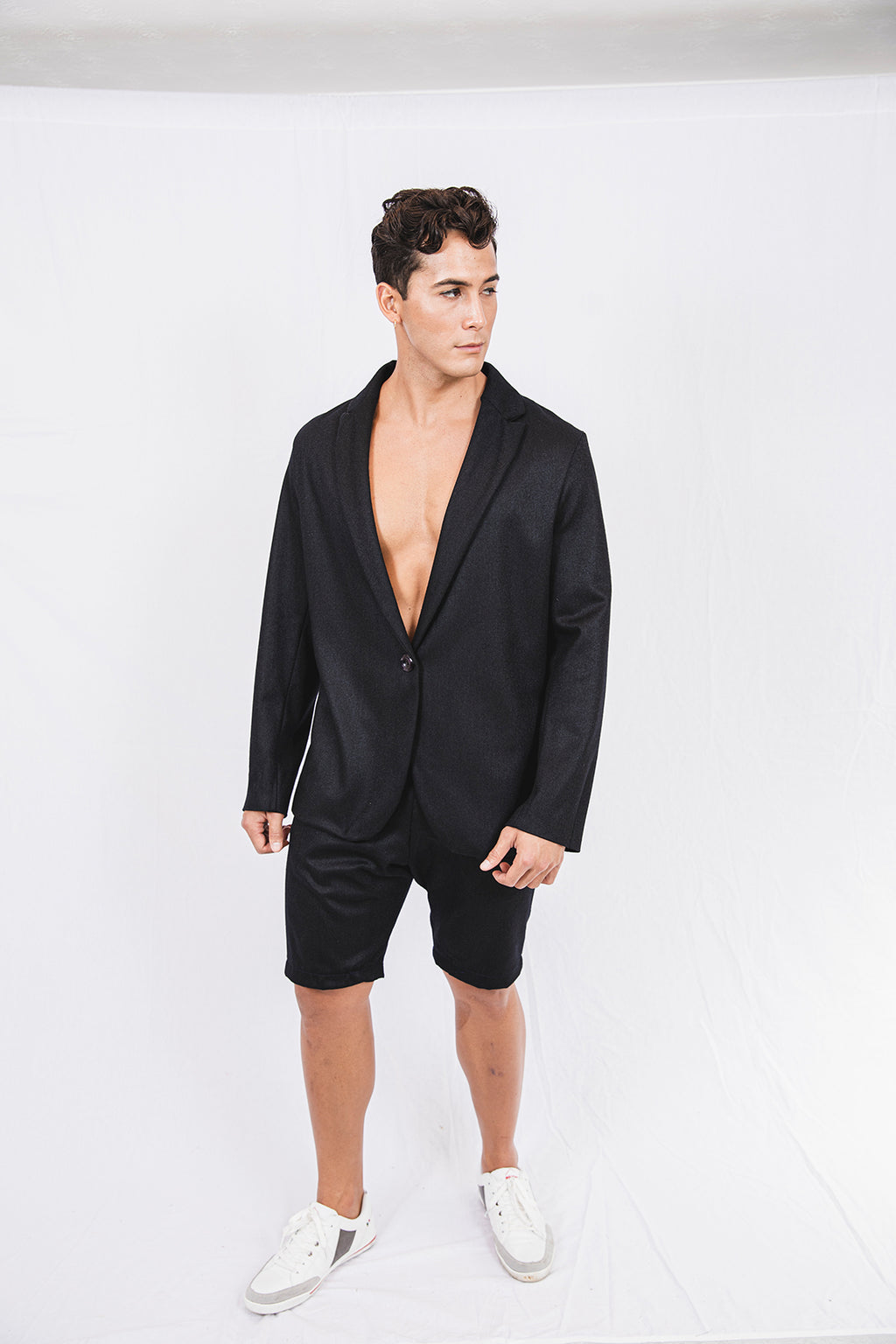 Christopher Lee Twill Black Shorts