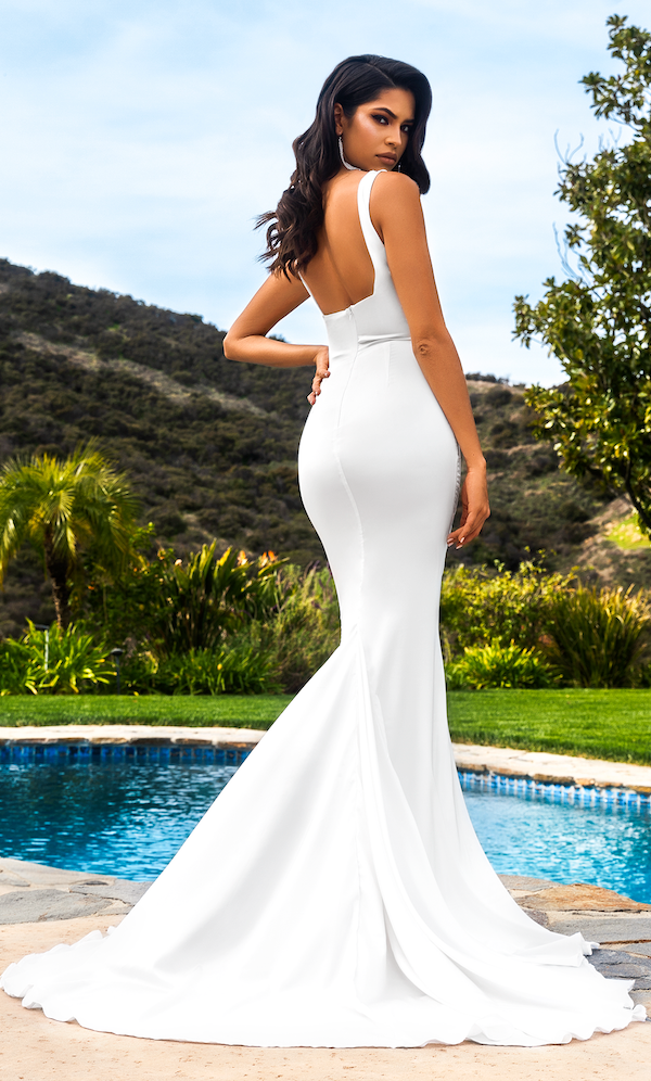 (PRE-ORDER) Giselle Mermaid Evening Gown- White