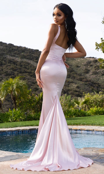 Audrey Square Neck Gown- Pink