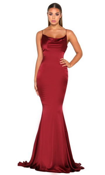 Portia & Scarlett Dana Gown- Deep Red