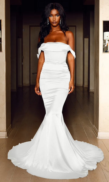 Delilah Corset Gown- White