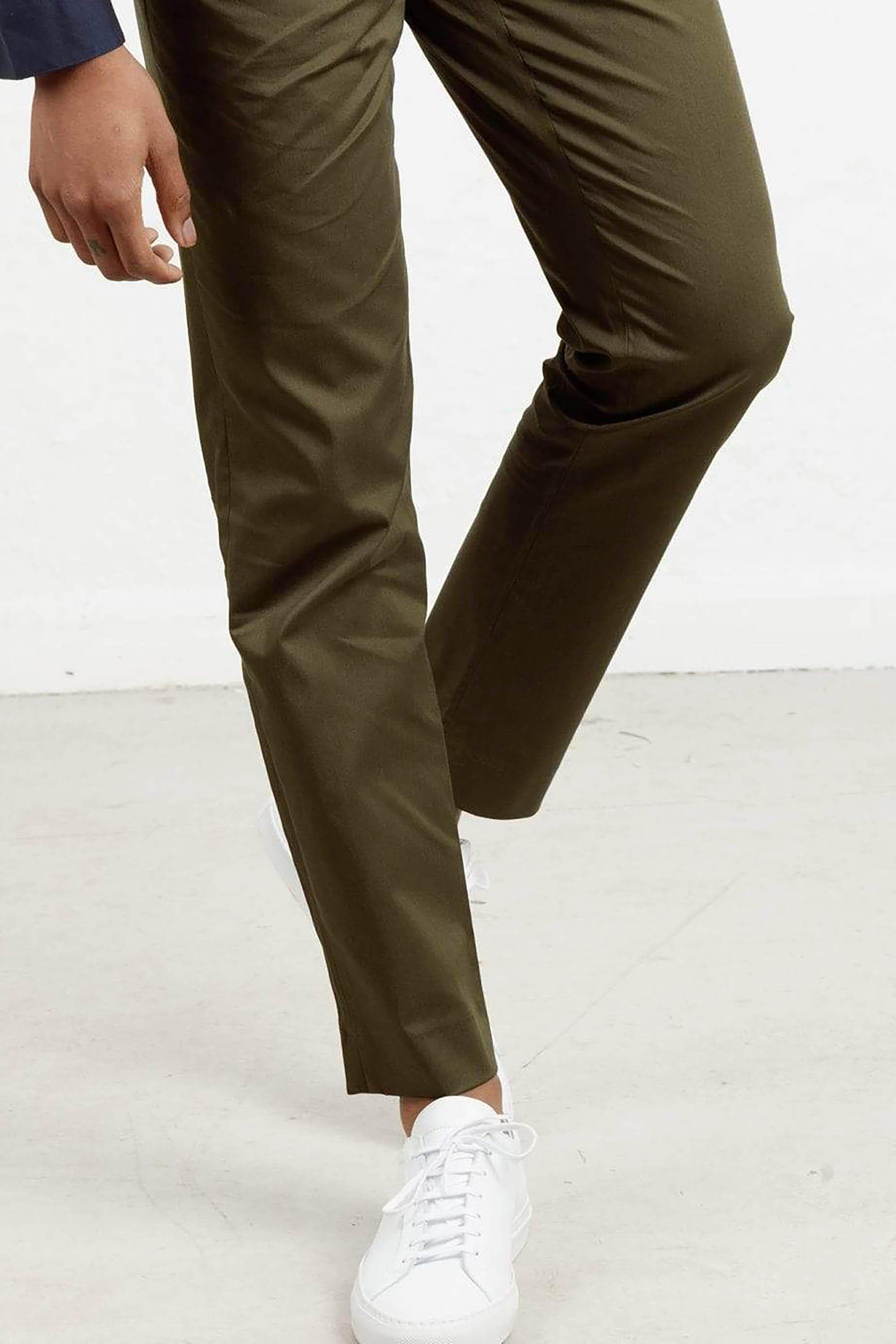 The 24 Trouser || Khaki | Stretch Cotton