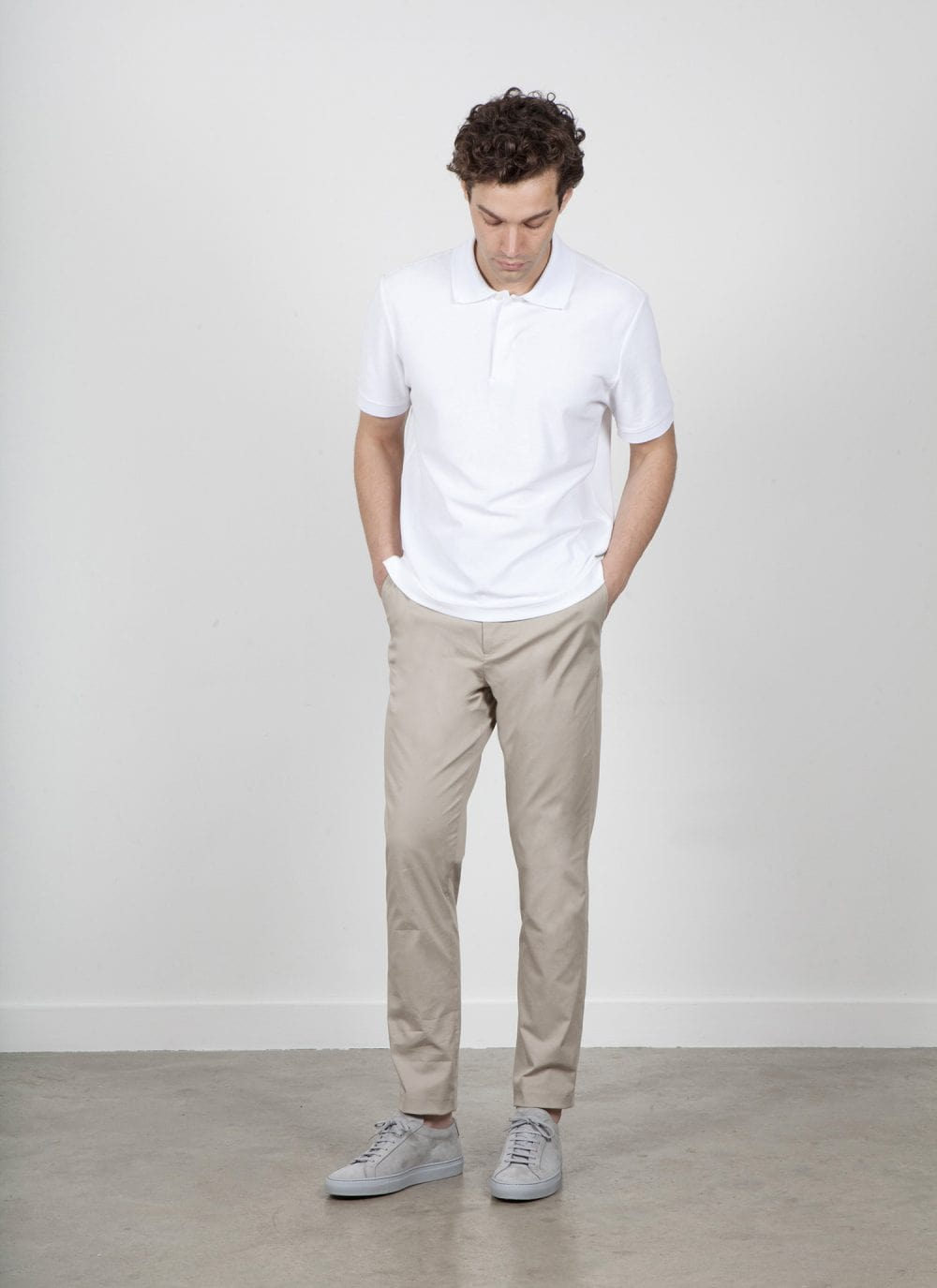 The 24 Trousers || Beige | Stretch Cotton