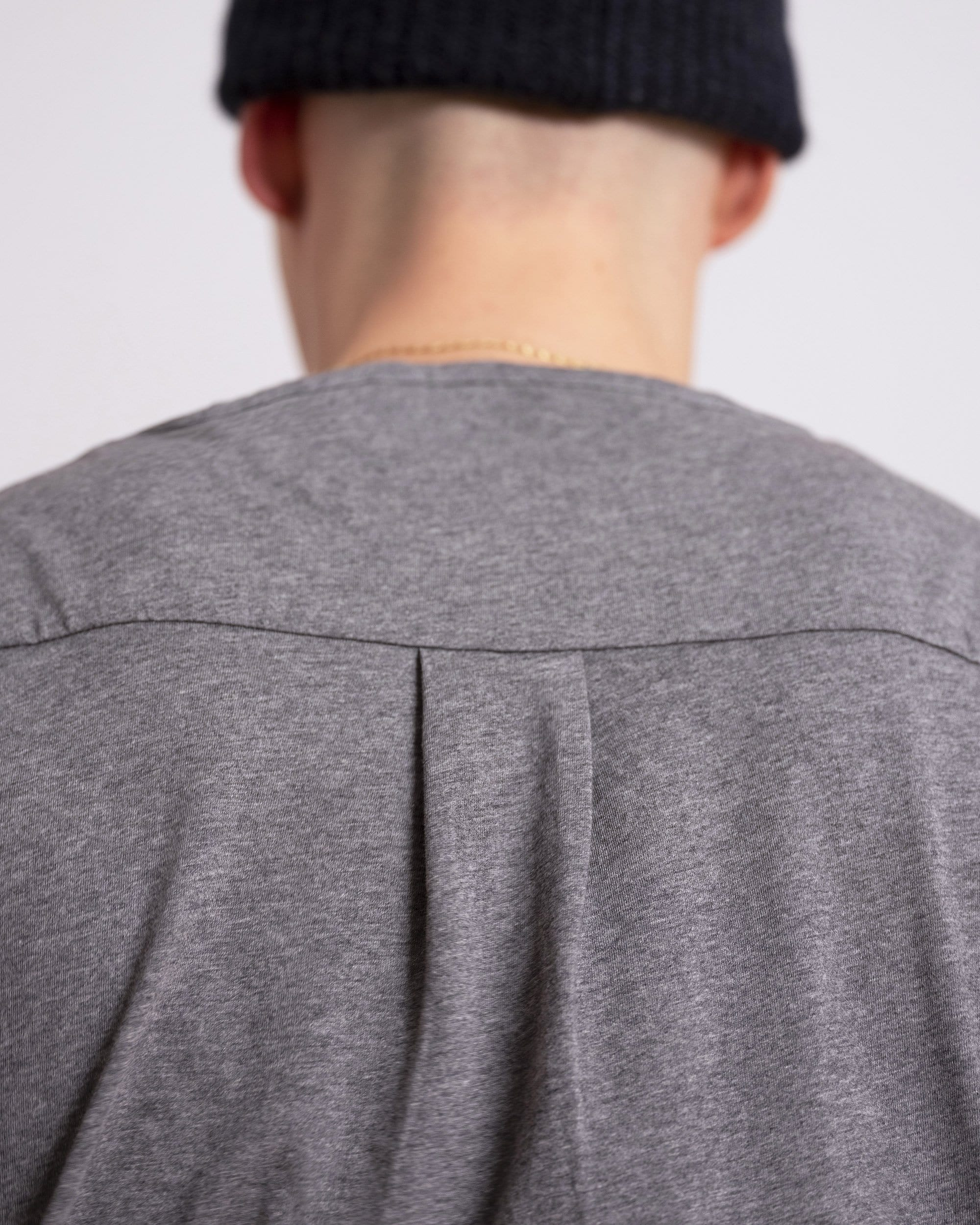The Tailored Tee || Charcoal | Supima Cotton