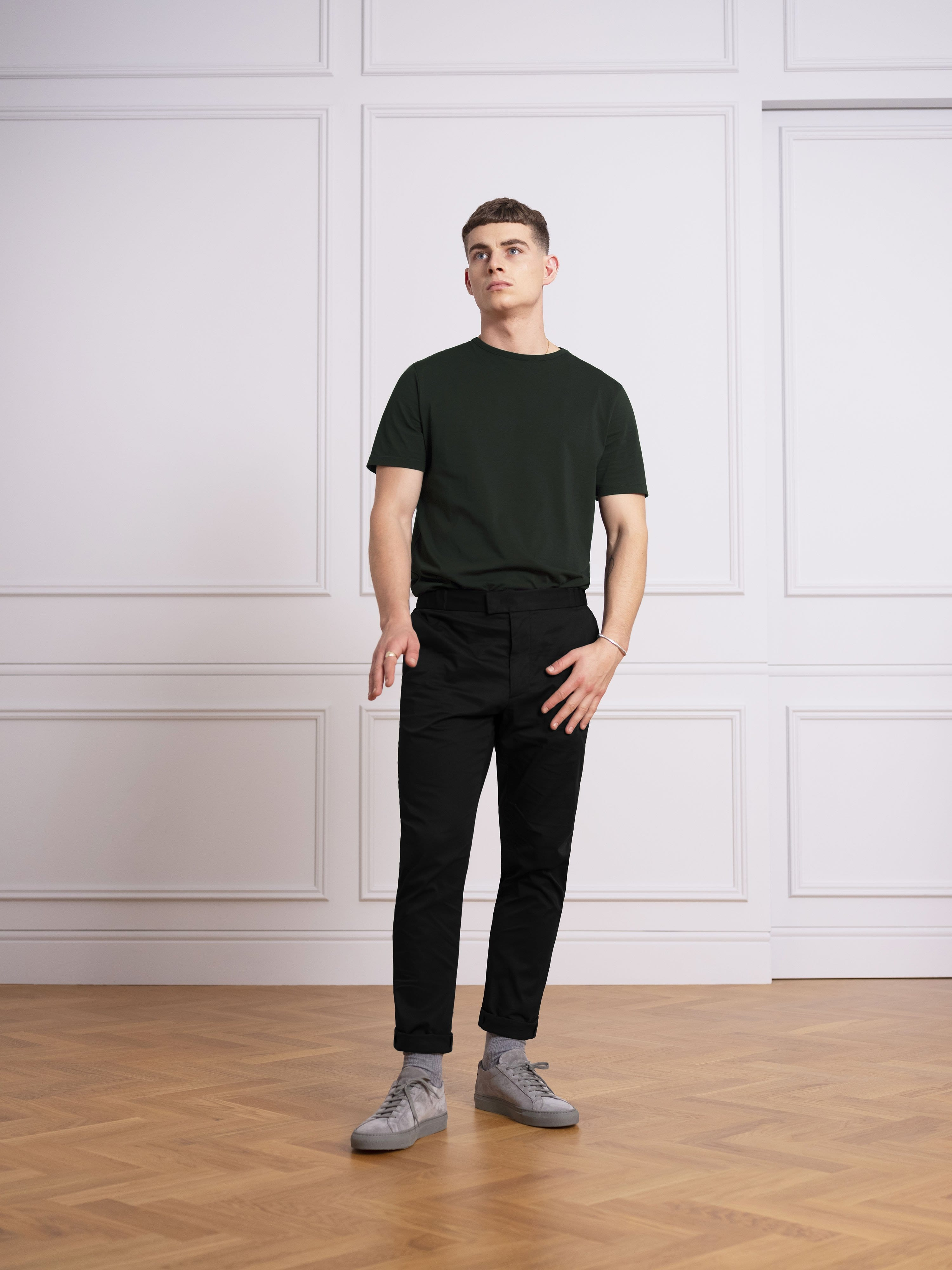 The Tailored Tee || Forest Green | Supima Cotton