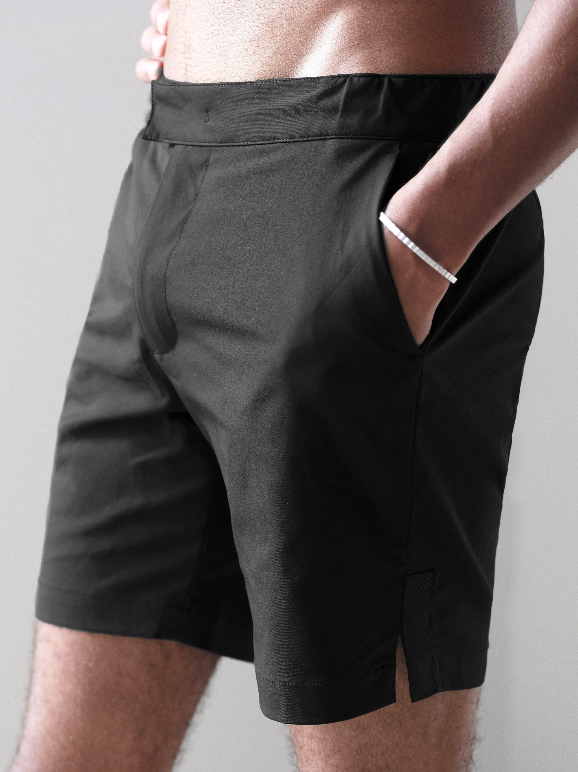 The Anywear Swim Short || Black | Recycled nylon with netting