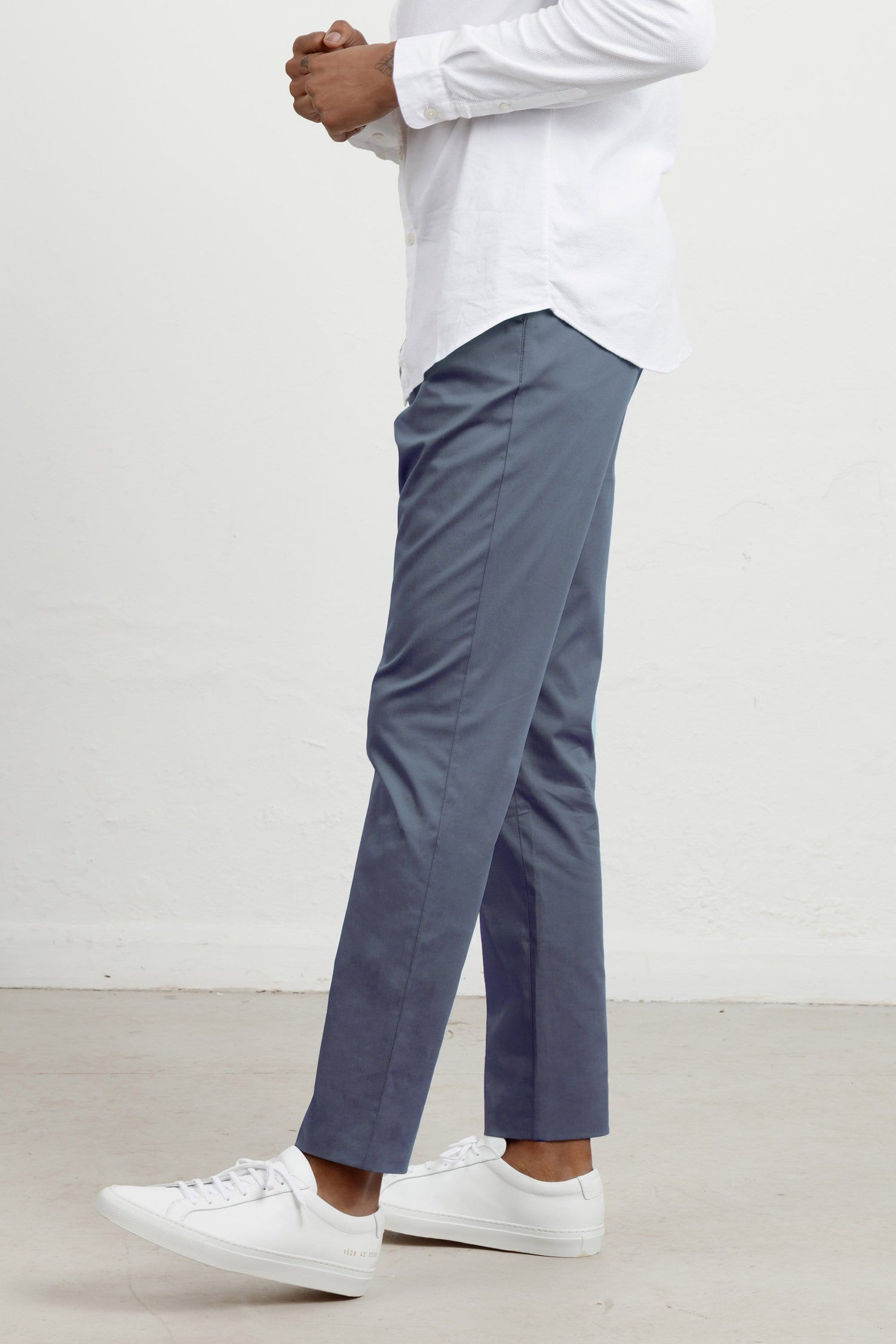 The 24 Trouser || Blue Anthracite | Stretch Cotton