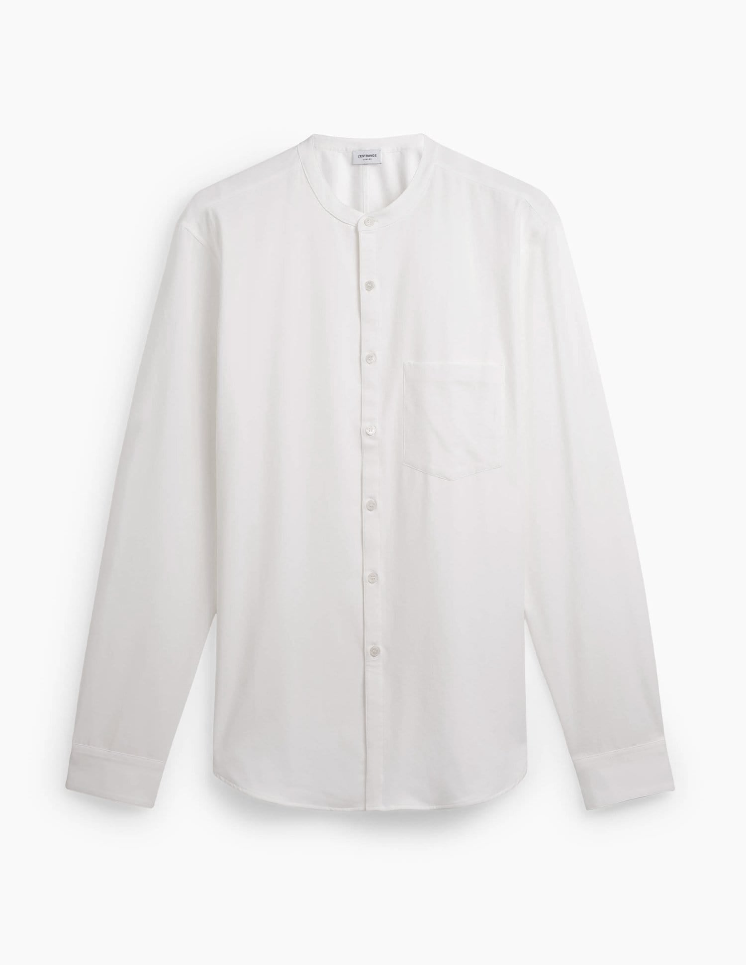 The All Day Shirt || White | Collarless