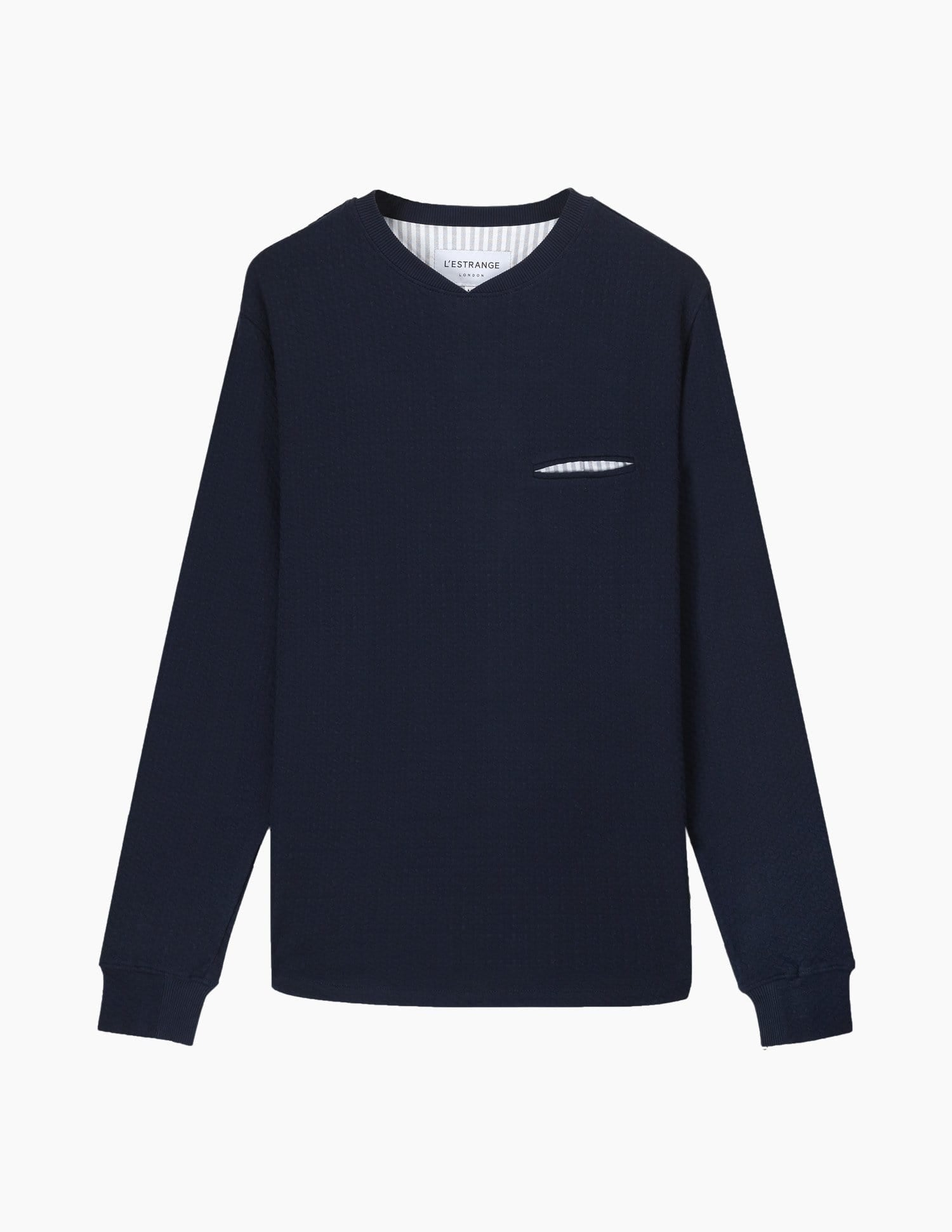The Curve Sweatshirt || Navy | Jacquard Jersey
