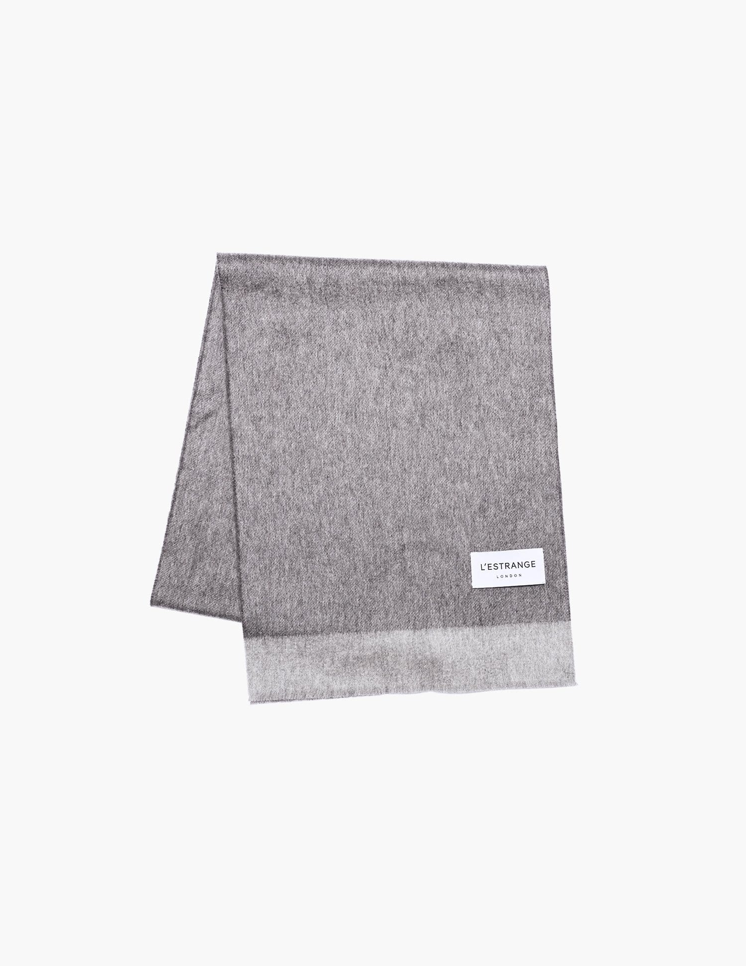 The Wool Cashmere Scarf || Grey | Wool Cashmere
