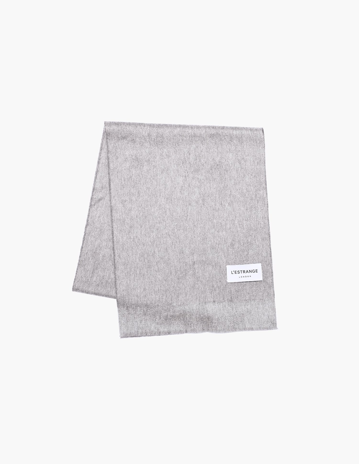The Wool Cashmere Scarf || Light Grey | Wool Cashmere