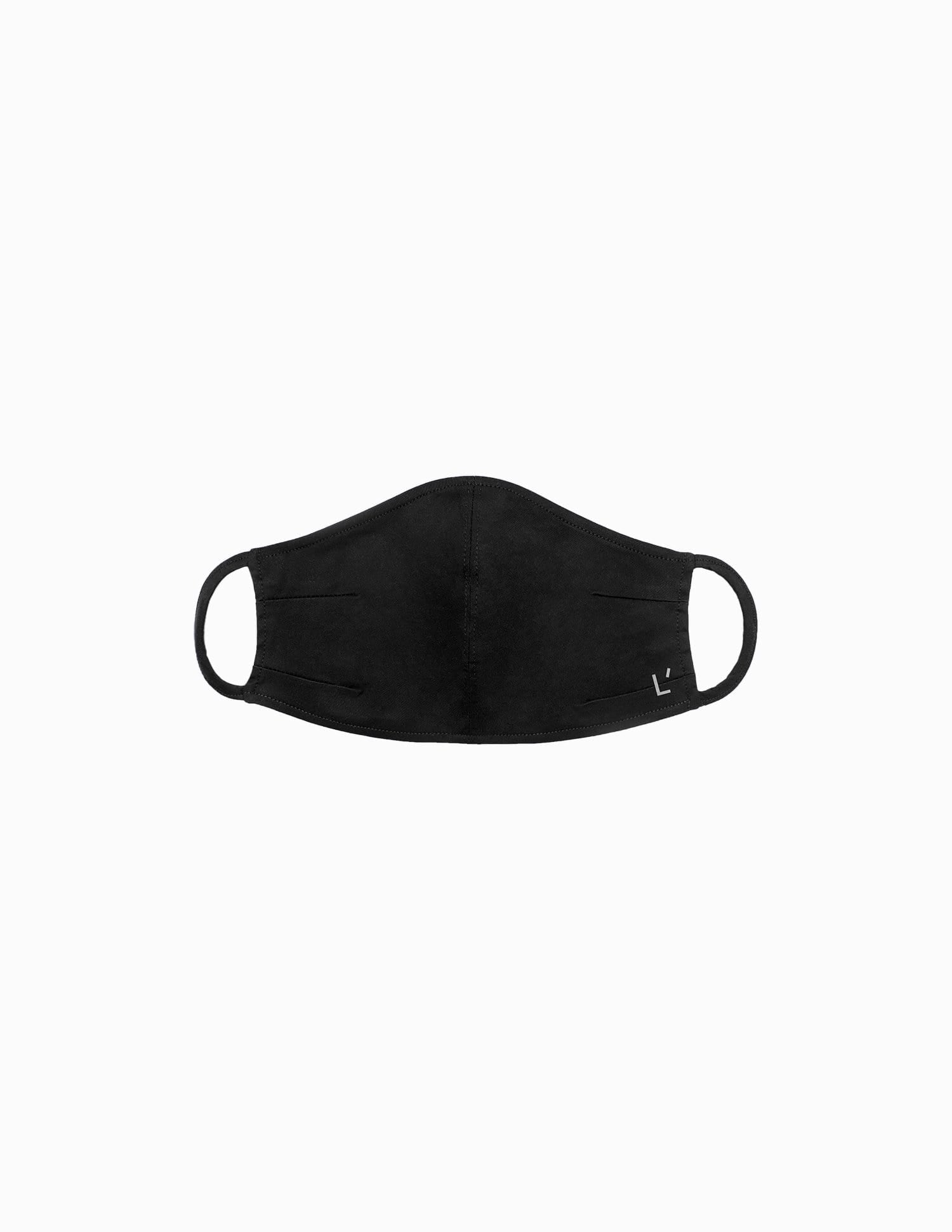 The 24 Mask || Black | Stretch Cotton ONE-SIZE