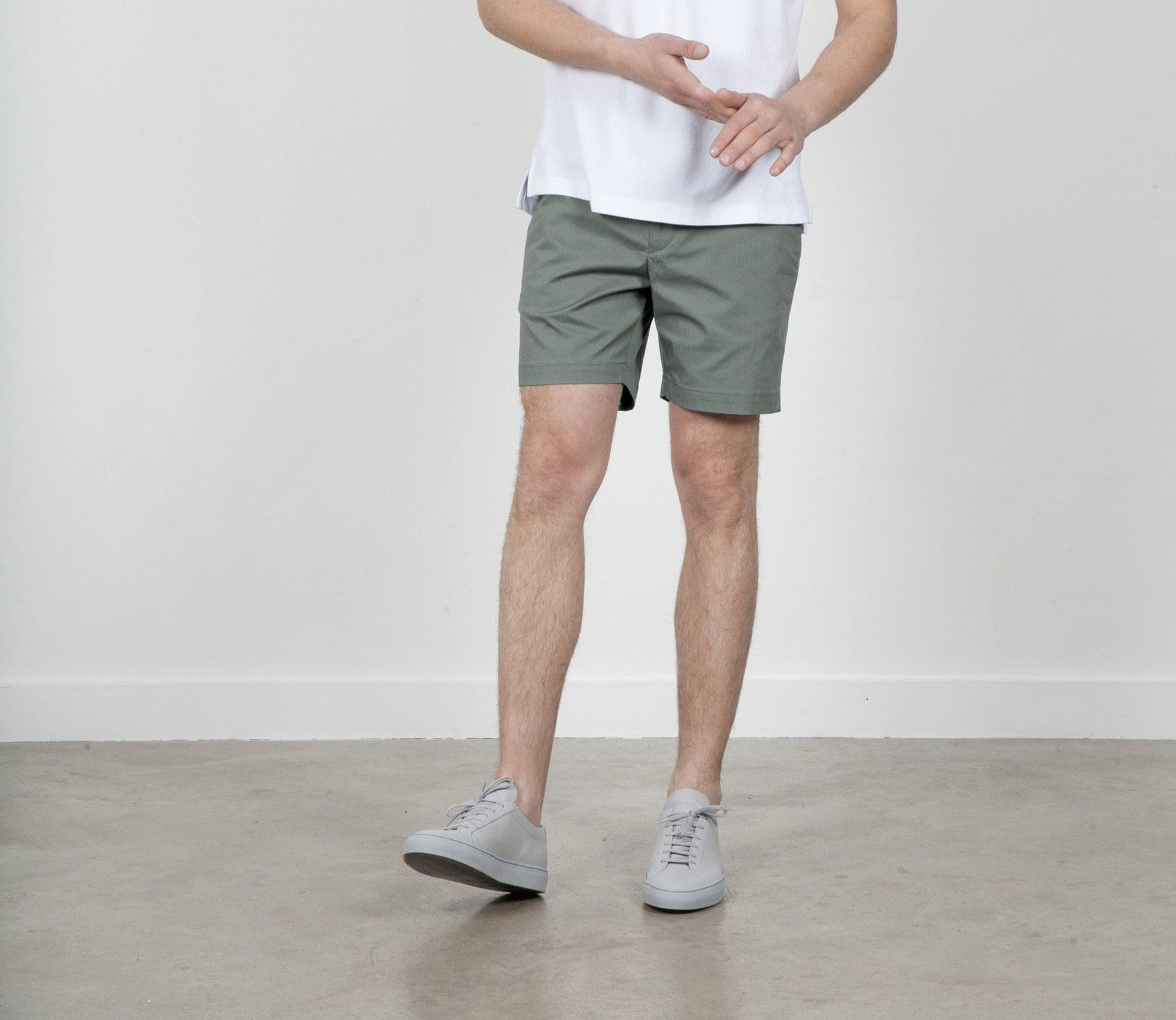 The 12 Shorts || Sage | Stretch Cotton