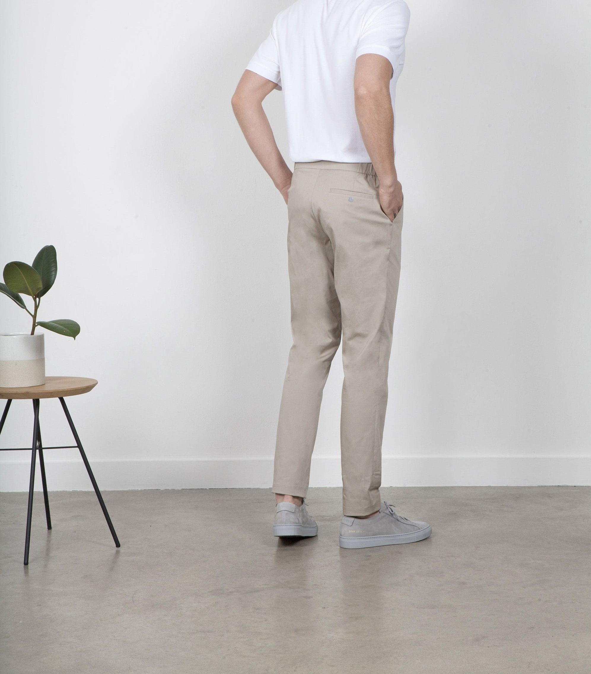 The 24 Trouser || Beige | Stretch Cotton